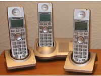 Panasonic Cordless Dect Phones with Answer machine - Triple Set