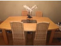 Solid wood dining table, 6ft x 4 ft, chairs not included