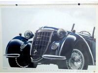 Rare Giant Official 1986 AUDI Motor Calendar featuring Auto Union 1930s cars Vorsprung aus Tradition