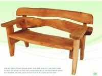 Celtic Forest Welsh Oak Monmouth Garden Bench (2 seater)