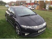 Honda civic black 07 reg Manualo