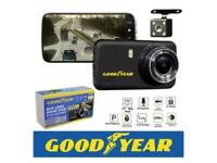 Goodyear Dual Lens Car DVR Front and Rear Camera Video Dash Cam Recorder. Full HD.