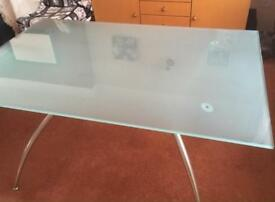 Frosted glass contemporary table / desk Calligaris (Italian)