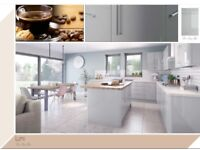 Dove Grey Gloss Kitchen Available £1145