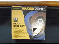 ANGLE GRINDER 4-PIECE FLAP DISC SET NEW BOXED