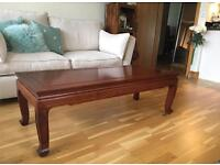 Chinese Rosewood coffee table made to order 30 years ago in Hong Kong