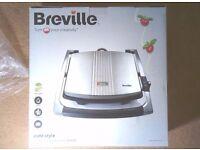 Breville Grill / Panini sandwich Maker 2KW - NEW