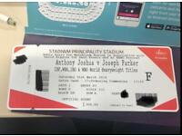 4 tickets for Anthony Joshua vs Joesph Parker Floor Seats
