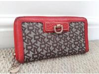 DKNY Canvas / Leather Purse Wallet - CAN POST