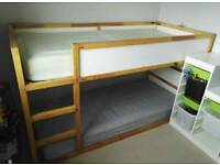 IKEA Kura reversible bed with 2 quality mattresses and over tent
