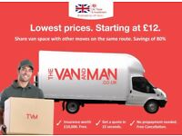 CHEAPEST SOUTH EAST LONDON Man & Van. Starting £12! Save 80%! UK Govt. approved.