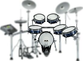 ROLAND KX PRO PAD SET SHELL PACK SNARE KICK 4 TOMS IN BRAND NEW BLUE OR RED METALLIC FINISH WRAP :)