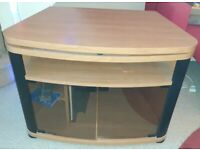 Corner TV Cabinet/Stand with rotating tray