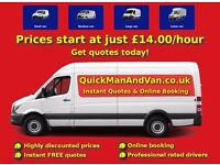 Man and van starting at £14.00 - Instant quotes & online booking