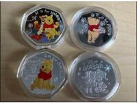 Winnie The Pooh H for Hunny, P for Pooh & S for Smile & Free Tis The Season Coins, Only 1 Available