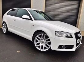 2010 AUDI A3 S LINE 2.0 TDI 170 WHITE 3 DOOR NOT A4 A1 VW GOLF PASSAT JETTA SEAT LEON FR CIVIC 207