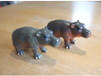ELC / AAA wild animals - Hippos /hippopotamus x 2