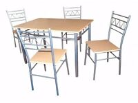 **100% GUARANTEED PRICE!**Brand New Budget Dinning Table Set With 4 Chairs