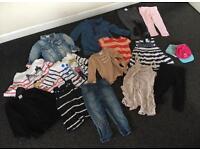 Girls Clothes Bundle (26 pieces) 12-18 Months - T Shirts, Shirts, Dress, Jeans Etc