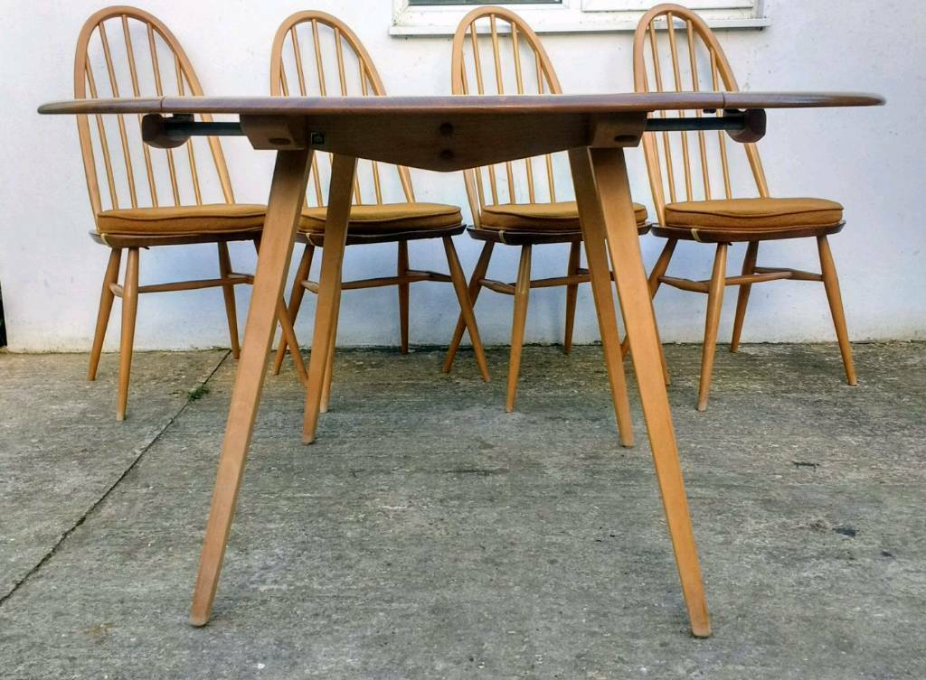Ercol Windsor Dropleaf Dining Table Vintage Retro Mid Century - Delivery Available