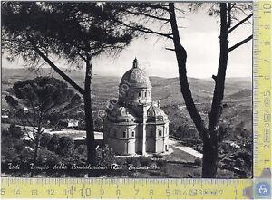 Todi-Perugia-Tempio-della-Consolazione-1955-Cartolina-Postcard