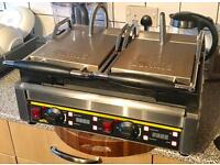 Buffalo twin contact electric grill