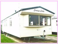 DREWS DEN: GOLDEN GATE: 3-bed Static Caravan for Holiday Lets