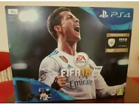 PS4 Slim 1TB Black Console Inc FIFA 18 Brand New & Sealed plus controller