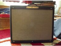 Used - Fender Hot Rod Deville 212 guitar tube combo amplifier w/cover & Footswitch