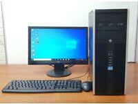 HP PC Computer Intel i5-2400 Windows 10 RAM 8GB 1TB HDD Office installed