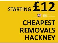 CHEAPEST HACKNEY Man & Van. Starting £12! Save 80%! UK Govt. approved.