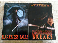 Jessica Sorensen - Darkness Falls and Darkness Breaks paperback books