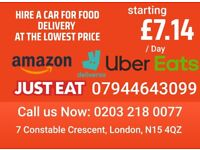 Food Delivery cars hire / Rent A car for food / amazon delivery uber eats - just eat - deliveroo
