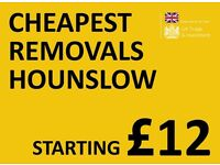 CHEAPEST HOUNSLOW Man & Van. Starting £12! Save 80%! UK Govt. approved.