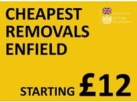 CHEAPEST ENFIELD Man & Van. Starting £12! Save 80%! UK Govt. approved.