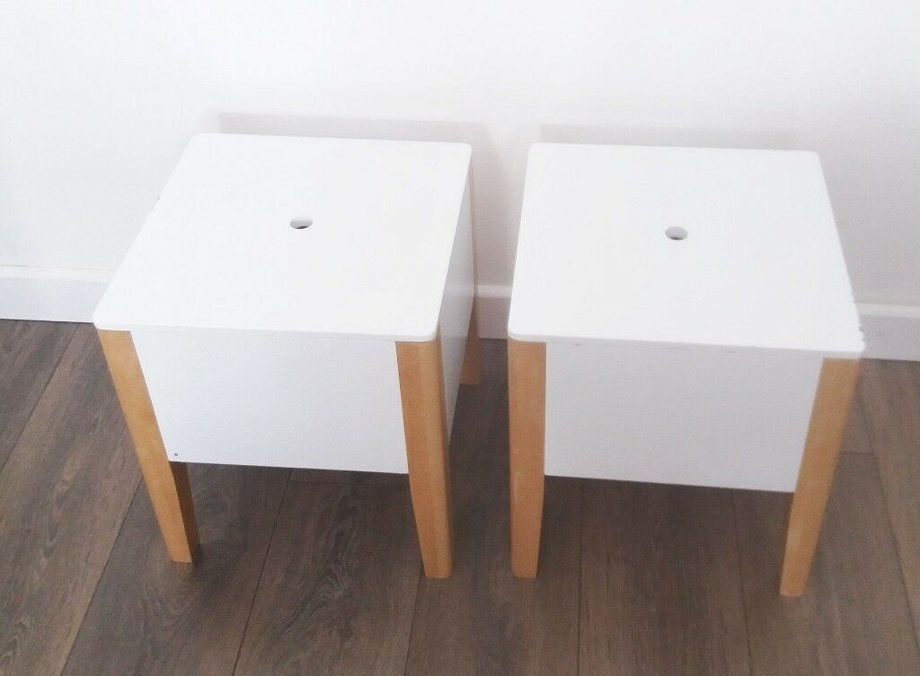 Set of 2 Toy Storage Stools Bedside cabinets / GLTC Potter Storage Stool