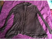 Classic comfy brown cardigan top by F&F size 10