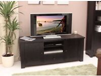 Dark Wood TV Cabinet, excellent quality, Brand New