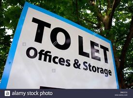 Lock Up Unit Workshop Office Storage To Let Rent 800sqft Self Contained 2 Rooms Kitchen Toilet £100