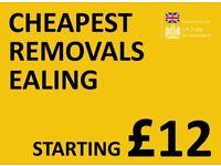 CHEAPEST EALING Man & Van. Starting £12! Save 80%! UK Govt. approved.