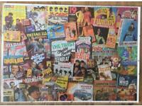 """Framed Jigsaw """"60's TV"""""""