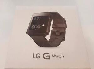 Original Authentic Genuine OEM LIKE NEW LG G Smart Watch Android Wear Black Titan W100