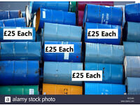 Lots of oil diesel empty steel drum pan barrels for sale can also deliver.