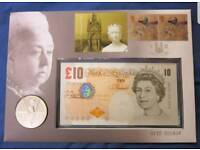 £10 Note & Coin Cover.