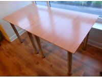 Tables - Set of 2 square wooden tables with adjustable feet & removable legs (for home or office)