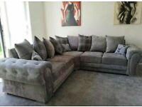 🎊🎁🎉Super Sale🎊🎁🎉verona corner - 3 and 2 seater sofa set in grey color-