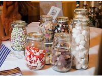 Sweetie jars for weddings/celebrations