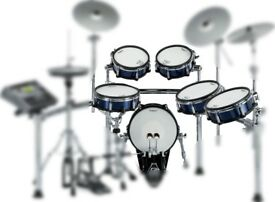 Roland KX pad shell pack READ THE DESCRIPTION FFS! SNARE KICK 4 TOMS NEW BLUE OR RED METALLIC WRAP