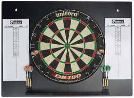 Dart Board - Unicorn DB180 HDC - PDC Endorsed - With Back Board/Score Board - NEW - 2 sets of Darts