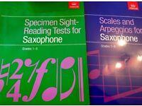 Alto Sax and clarinet books